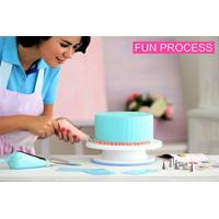 Cheap FBT010603 cake decoration kit include turntable stand,piping tips,icing bags for sale
