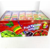 Cheap Colorful Multi Fruit Flavor Twist Lollipop Sweet And Healthy with Fluorescent for sale