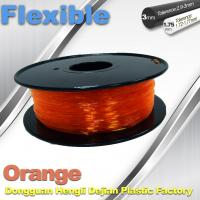 Best Orange Flexible 3D Printer Filament Consumables With Great Adhesion wholesale