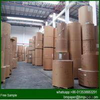 China one side white clay coated duplex paper cardboard with grey back on sale