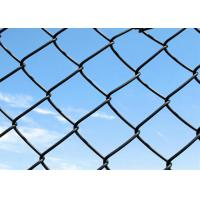 Best Hot Dipped Galvanized Steel Chain Link Wire Mesh 6 Foot in Blue / Green Color wholesale
