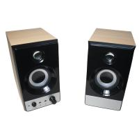 China USB 2.0 R.M.S 5W * 2 , 60Hz - 20KHz wooden speaker boxes CE & ROHS approval on sale