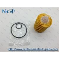 China 04152-38010 Replacing Oil Filter In Car , Paper Oil Filter Car Filtration on sale