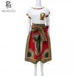 Best Women Dashiki Skirt African Print Maxi Skirt With Two Side Pockets Zipper Back wholesale