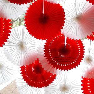 China Solid Color Pierced Paper Fan Decorations Paper Backdrop Decor on sale