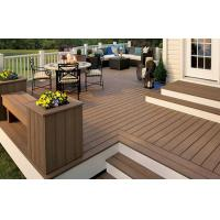 China Recyclable WPC Decking Flooring Waterproof Brown For Court on sale