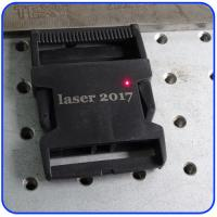 Cheap 20W Plastic Buckles Fiber Laser Marking Machine with 110*110mm Working Area for sale