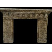 Best Indoor Natural Stone Fireplaces Emperador Fire Surround 2800 Kg/M3 Hand Making wholesale