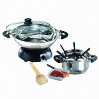 Best Electric Wok and Fondue Set with Stainless Steel Pot wholesale