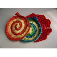 Best Handmade Crochet Accessories , 100% Acrylic Full Color Kitchen Knitted Dishcloths wholesale