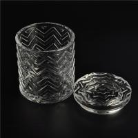 Best Clear home decoration extra large glass candle holders with glass lid wholesale