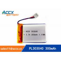 Best Rechargeable 303040 Lithium polymer battery 3.7V 300mah for bluetooth speaker wholesale