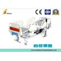 Professional Steel Punching Hospital Electric ICU Bed With ABS Foldable Guardrails (ALS-E508)
