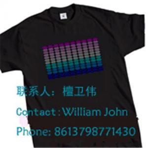 Best EL sound activated T-shirts,EL T-Equalizer panel t-shirts,EL panel T-shirts wholesale