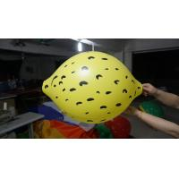 Durable Yellow 90cm Lemon Shaped Balloons With Digital Printing