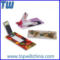 Promotion Slim Card USB Flashdrives High Quality Best Service