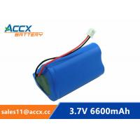 Best 18650 3.7V 6600mAh rechargeable li-ion battery pack 1S3P for home appliancewi with jst connector and PCM wholesale