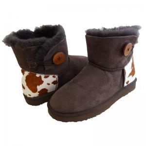 Best Classical Women Sheepskin Winter Boots Double Face Fur Anti - Slip wholesale