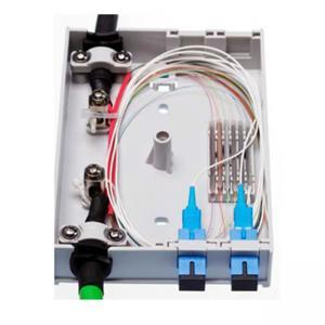 Best 4 FO Outdoor Fiber Optic Junction Box , SC Simplex LC Duplex Adapters Fiber Access Terminal Box wholesale