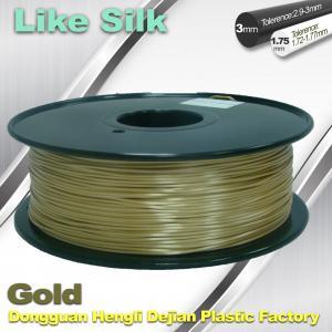 Best Polymer Composites 3D Printer Filament , 1.75mm / 3.0mm , Gold Colors. Like Silk Filament wholesale