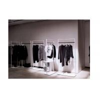 Best Elegant Clothes Shop Fittings Iron Powder Coated , White Complete Shop Fittings For Retail Store wholesale