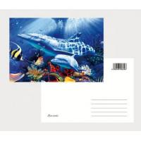 Best 2021 Souvenir scenery Plastic lenticular 3D printing postcard with 3D flip effect post card printed by UV printer wholesale