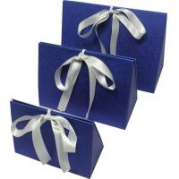 Best Simple folding apparel  Customized Gift Boxes with show window and silk ribbon wholesale