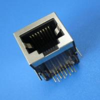 Buy cheap RoHS/UL 1x1 Port, 10/100 BaseT, rj45 connector with filter from wholesalers