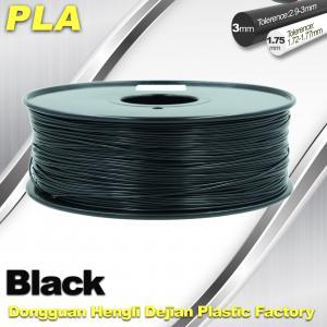 Best Black  PLA 3d Printer Filament  1.75mm /  3.0mm 1.0 KG / Roll wholesale