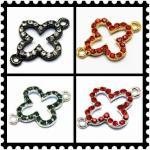 Best Customized Colorful Rhinestone Crystal Cross Pendants for Women Jewellery 20 * 27mm wholesale