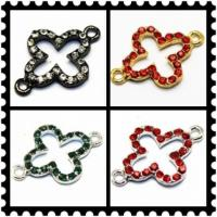 Cheap Customized Colorful Rhinestone Crystal Cross Pendants for Women Jewellery 20 * 27mm for sale