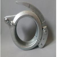 Painting / Galvanized Carbon Steel Concrete Pump Pipe Clamp , Quick Release Tube Clamp