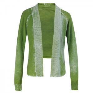 China Custom made Green cotton cardigan sweater women fall Short Knit Sweater on sale