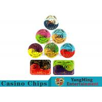 Cheap Security Promotional Casino Poker Chips With Smooth And Delicate Texture for sale