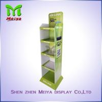 Cheap Floor Advertising Display Stands for Sport Products , Cardboard Sunglasses Display Stand for sale