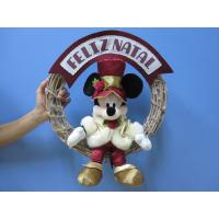 Best Mickey Mouse Disney Plush Toys with Wreath / Christmas Holiday Stuffed Toys wholesale