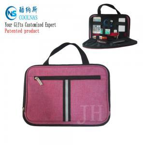 Best Electronics Travel Organizer Storage Bag , Pink Gadget Case Organizer wholesale