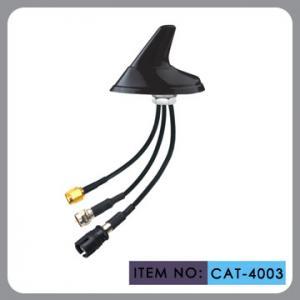 China Round Shape Car Gsm Gps Antenna , AM FM Car Antenna 12 Cable Length on sale