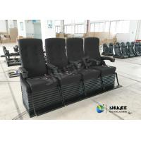 Best Special Effect Custom 4D Movie Theater Motion 4D Chairs Red / Black For Shopping Mall wholesale