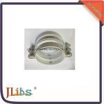 Quality Galvanised Steel M8 / M7 Down Pipe Clamps Hexagonal Side Screws wholesale