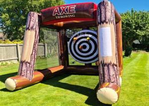 Best Interactive Inflatable Battle Axe Game / Inflatable Flying Axe Throwing Challenge Carnival Game wholesale