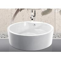 Best Custom Small Round Freestanding Bathtub With Pop - Up Drain 1500x1500x600mm wholesale