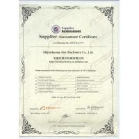 Shijiazhuang Aier Machinery Co.,Ltd Certifications