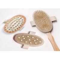 Best 3 Detachable Heads Long Handled Body Brush With Rubber Nubs , Eco Friendly wholesale