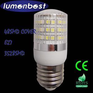 E27/E14 LED BULB 48SMD(3528) Plastic 2.5W LED Bulb Ø31*79mm With stripe cover