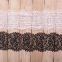 China 15 cm *3 yards  Underwear  Lace Border Eyelash lace edge with ivory black color in stock on sale
