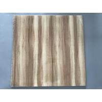 Best Professional Wooden Flat PVC Ceiling Tiles With Stable Material 595mm / 603mm wholesale