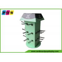 China Four Sides Rotated Cardboard Counter Display , Black Pegs Retail Counter Displays CDU026 on sale