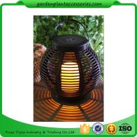 Best Medium Round Outdoor Rattan Solar Lantern With 2V / 80MA Solar Panel wholesale
