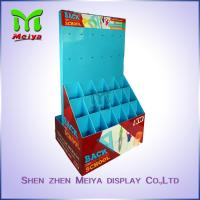 Best Cardboard Hook Display for stationeries , Two sides Grid cardboard merchandising displays wholesale